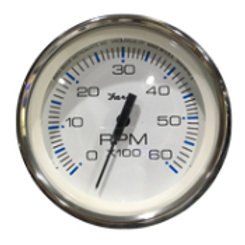 Chesapeake stainless steel series Tach 6000 rpm i/o gauge, ktf33710 by Faria