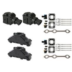 "Mercruiser V6 4.3L Manifold 4"" Risers, 807988A2 (2) & 99746A17 (2), GLM 58222"