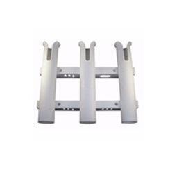 Economy 3 rod rack pole holder w/rail tool storage
