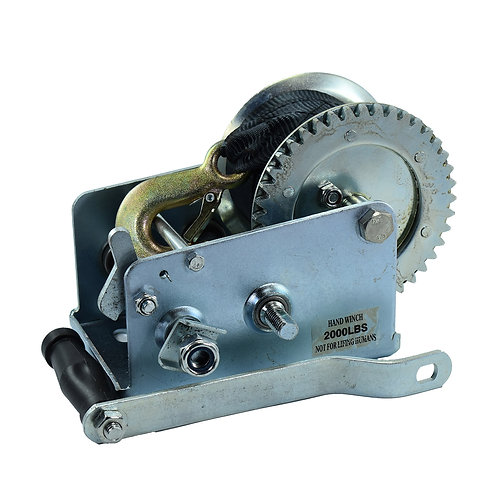 """Hand winch with 2"""" x 20' lenght strap capacity 3500 lbs"""