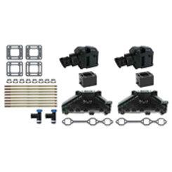 "MerCruiser V6 4.3L Manifold kit w/4"" riser 3"" spacers 99746A17, GLM 58224"