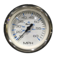"Chesapeake stainless steel series speedometer 60 mph 4"", KTF33704 Faria"