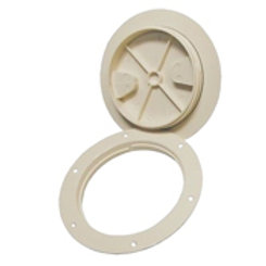 """Sure seal deck plate white 8"""" diameter, by T-H Marine, DPS-8S-2-DP"""