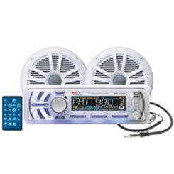 """BOSS MCK1440W.6 6-1/2"""" Marine Speaker Package 240 Watt"""