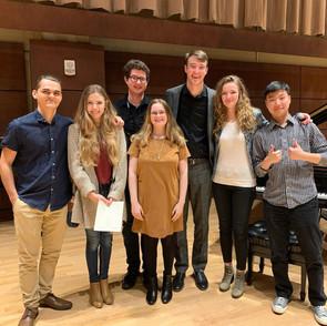 Zack with his students at Oklahoma City University