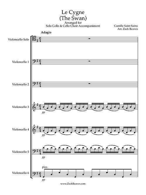 Saint-Saëns - The Swan - Arranged for Cello Choir