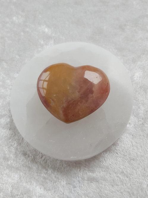 Crimson Healer Heart Rare Healing Crystal, Aids Overcoming Past Traumas