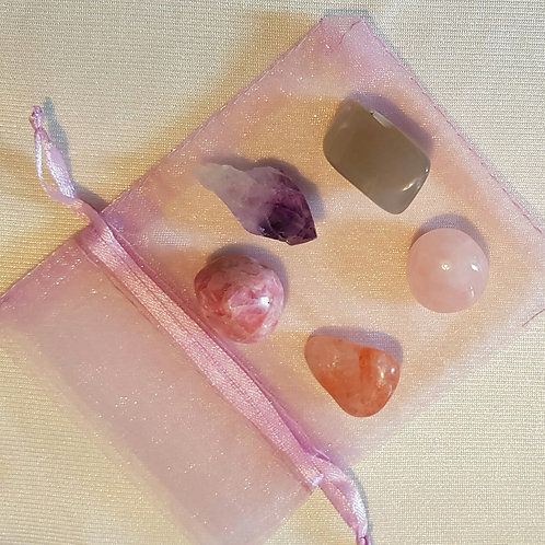 Attracting Love and Friendships, Looking for our Soulmate, Crystal Set for Reiki