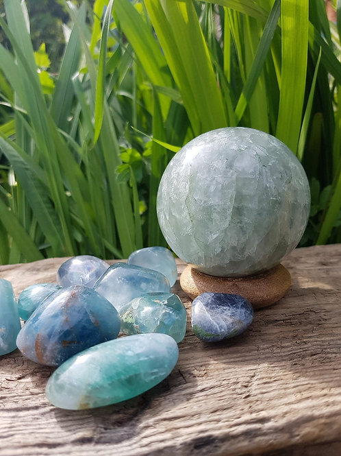 Large Fluorite Sphere, Green, Scrying, Crystal Healing, Improves Sleep, Concentr