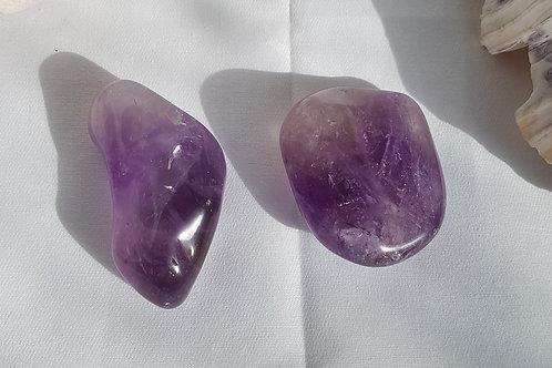 Amethyst Freeform Pebbles/Palm Stone, Truly Beautiful Quality, AAA Grade