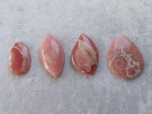 Rhodochrosite Cabochons, Helps to heal heartbreak and learn to love again