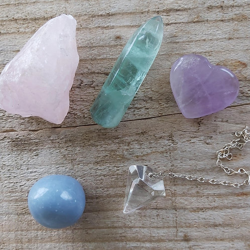 New Healing Crystal Collection, Reiki, Meditation, Crystal Grid.