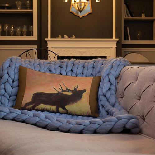 Linen Printed Bolster Cushion Of Flowering Moon Silhouette by Karenjoy