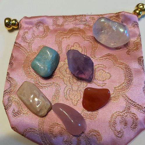 Anxiety and Depression Crystal Healing Set for Reiki and Meditation