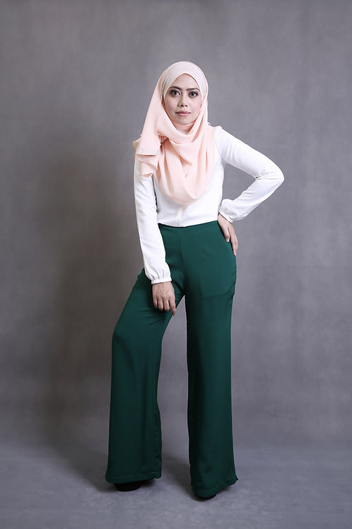 Classy Leesa Pants - Forest Green 3.0