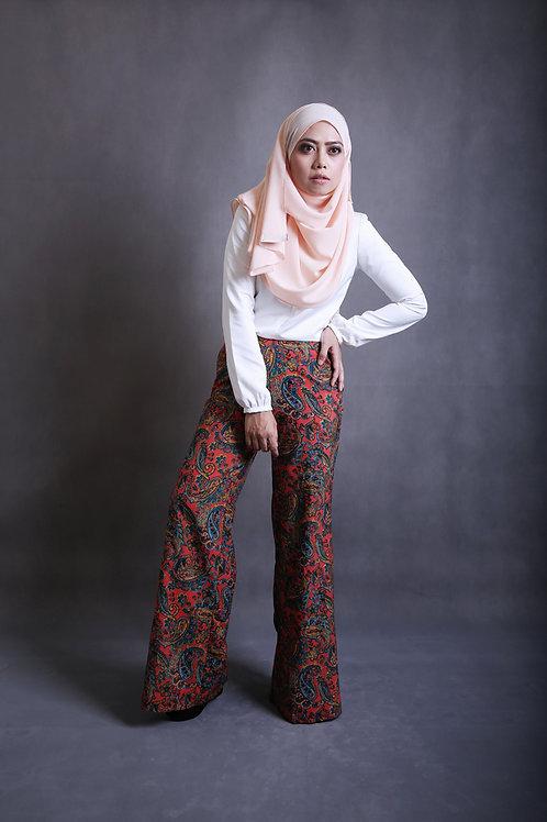 Classy Leesa Pants - Red Pattern 2.0