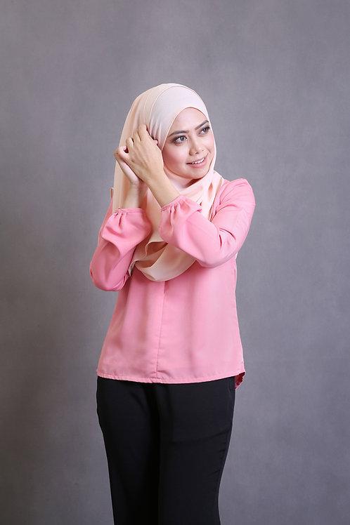 Front Zipper Top - Salmon Pink