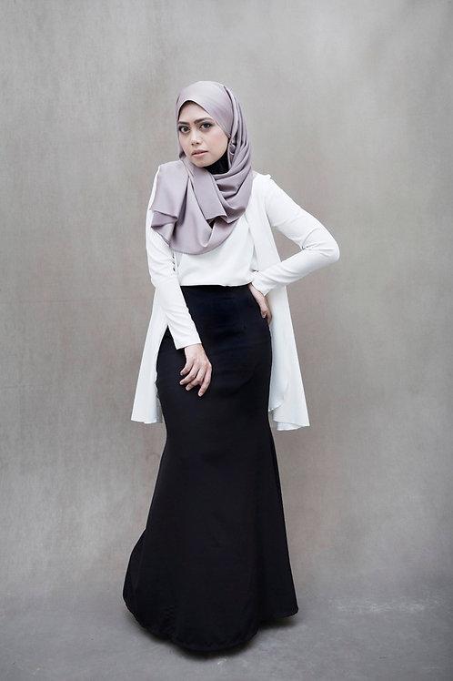 Metal Zipper Skirt - Pure Black 2.0