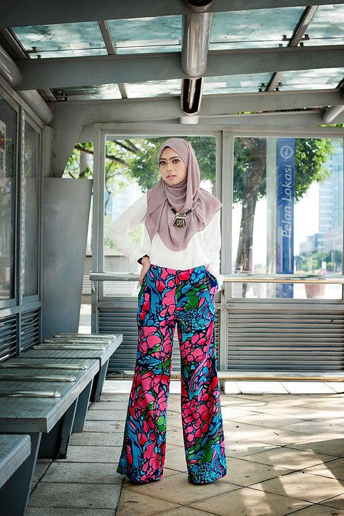 Classy Leesa Pants - Pink Abstract 2.0