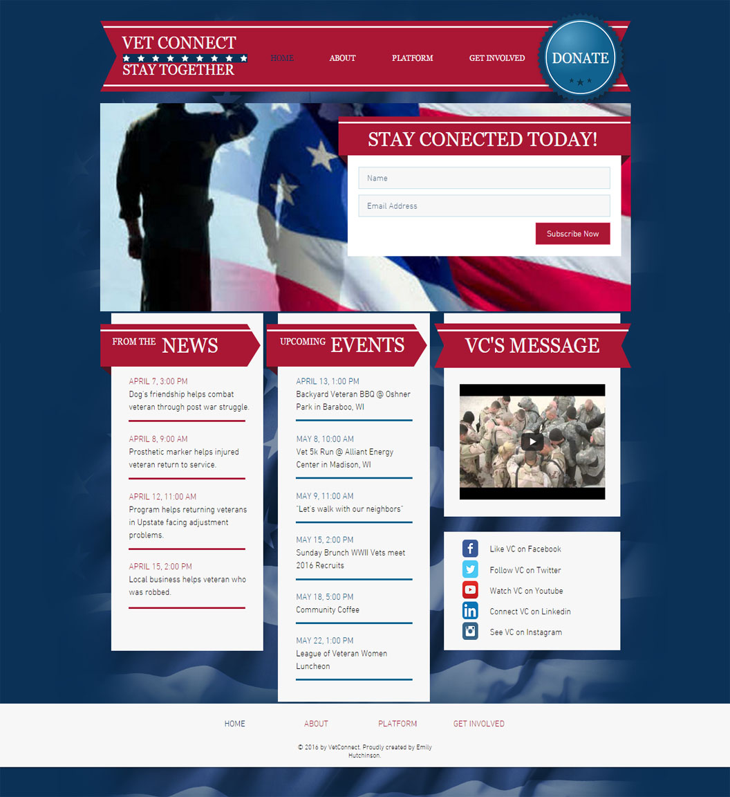 Vet Connect Home Page