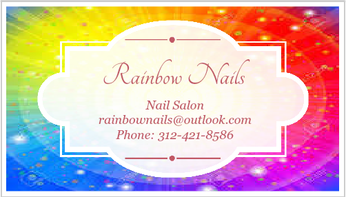 Rainbow Nails Business Card