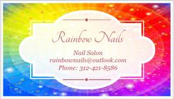 Rainbow Nails Business Card