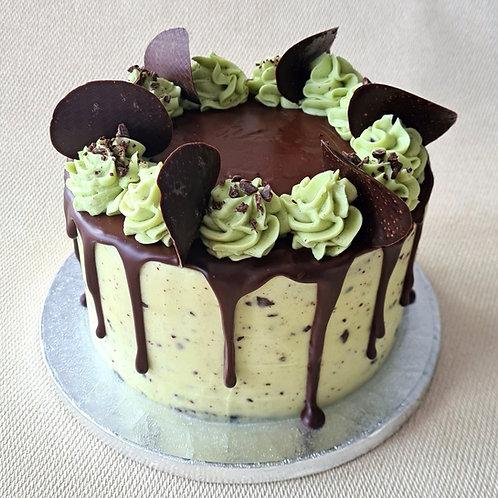 Mint Chocolate Chip Cake