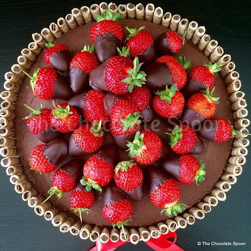 Chocolate Strawberry Wafer Cake