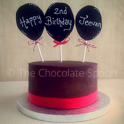 Chocolate Balloon Cake