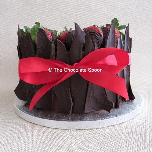 Dark Chocolate Shard Cake