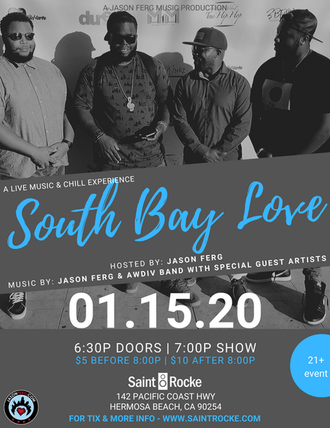 Jason Ferg and Awdiv Band to Kick Off 'South Bay Love' at Saint Rocke