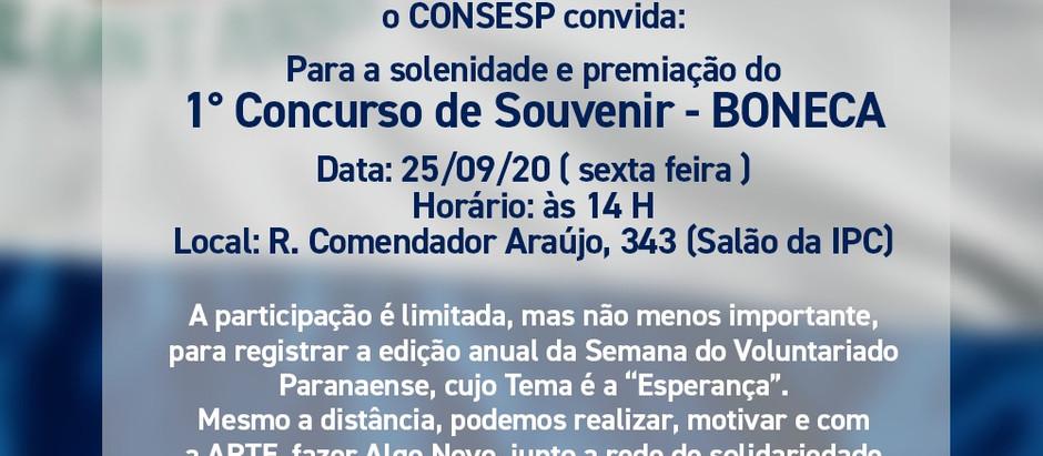 1º CONCURSO DE SOUVENIR DO CONSESP – BONECA