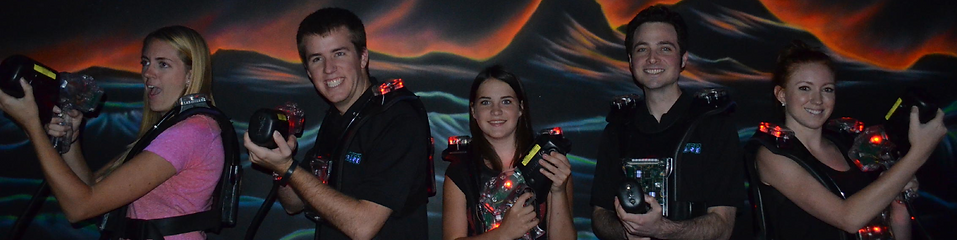 laser tag players with vests