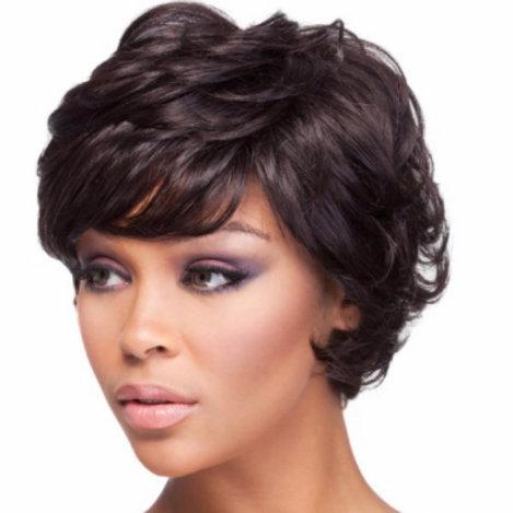 Black Layered Wig