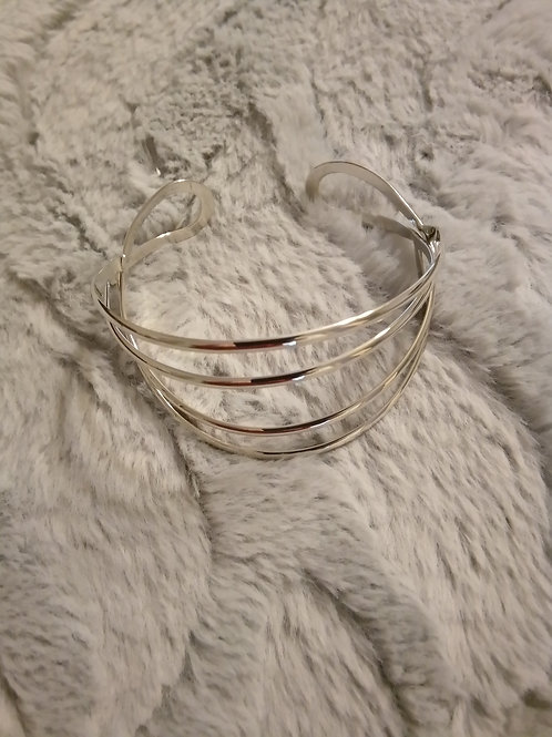 Silver moon bangle- must have