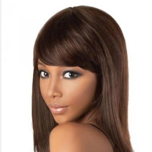 Brown shoulder length wig