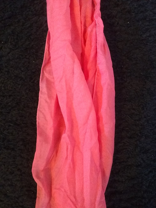 Coral Face mask scarf (63 in. x 13.8 in.)