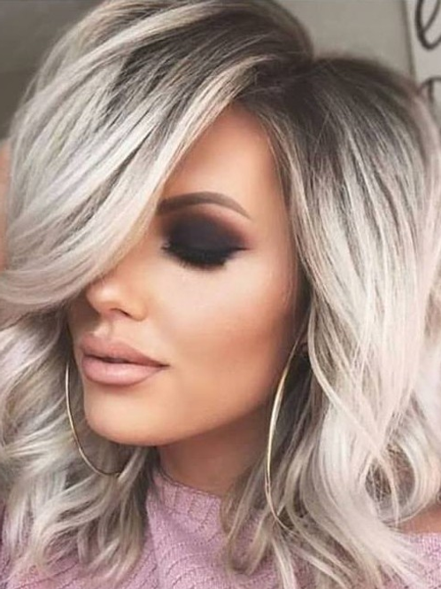 Black root, icy blonde wing