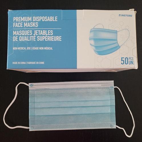 Generic Disposable Face Masks (50 per box)