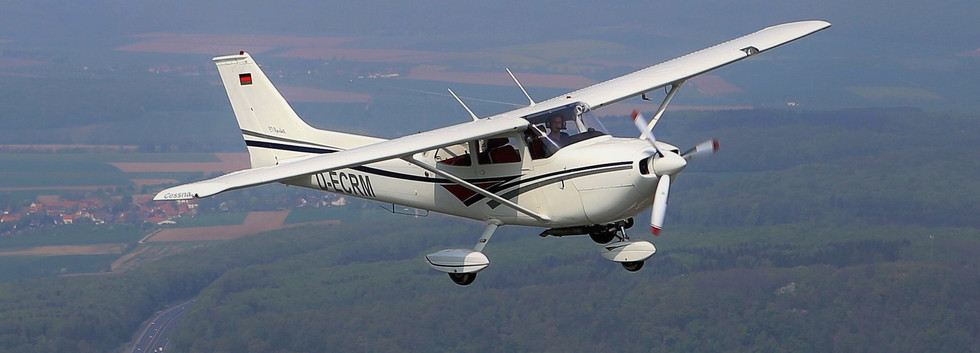 Die Cessna im Reiseflug