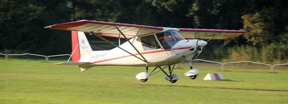 Die C42 bei der Landung