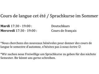 Cours de langue / Sprachkurse / Language classes