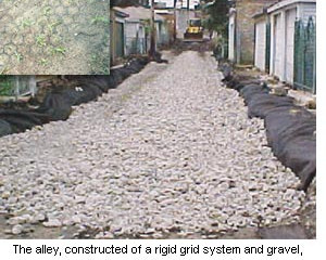 Turning alleys into flood prevention tools