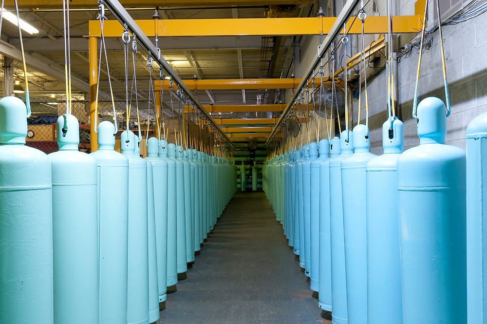 Refrigerant gases can be cleaned and recycled; photo courtesy of Hudson Technology Company