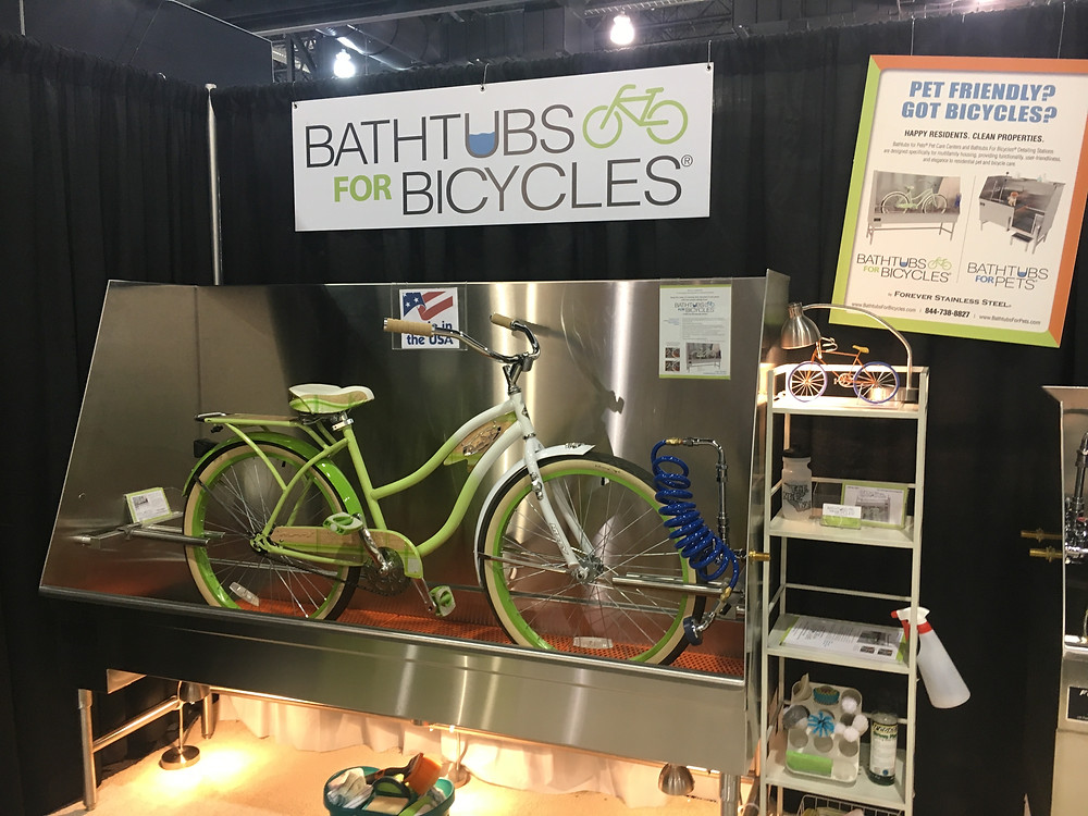 Bathtubs for bicycles keep the dirt outside and buildings biker-friendly.