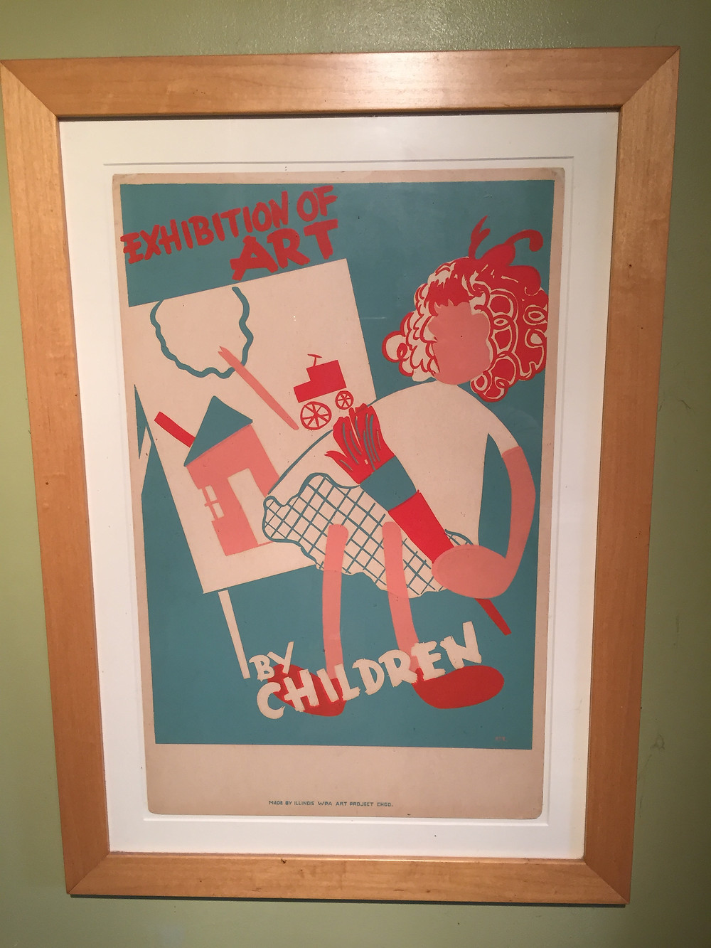Children in the Great Depression were given art classes that employed artists as teachers and as poster designers