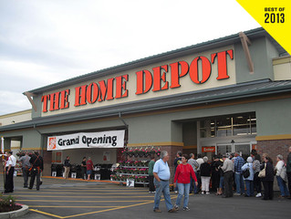 Home Depot's big roofs and shrinking footprint