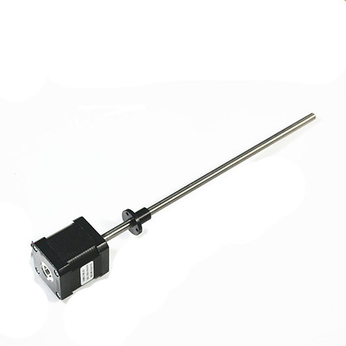Nema17 stepper with integrated 210mm length Tr8*8 lead screw threaded