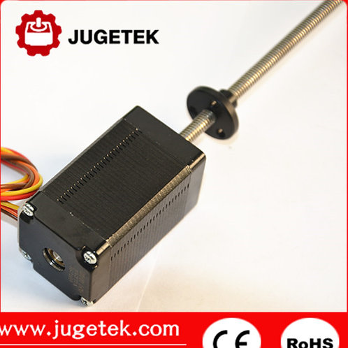 Nema11 34mm linear stepper motor with 100mm Tr5*2 length Lead screw
