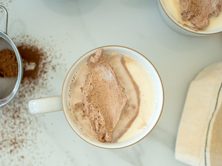 Almond White Hot Chocolate with Chocolate Whipped Cream